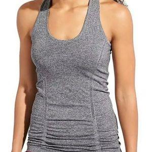 Athleta Grey Seamless Ruched Athletic Yoga Tank